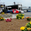 The beauty of Lowes garage area, as David Ragan rolls by.