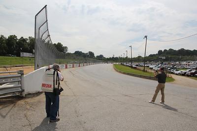 photographer John Davison and NASCAR announcer Lenny Batycki were my  companions at Greenville-Pickens Speedway in South Carolina.
