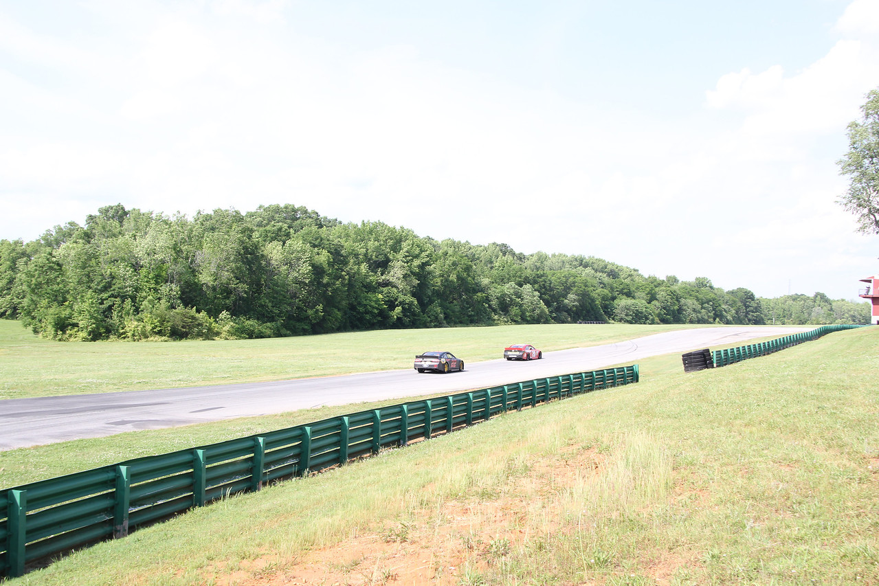 """heading onto the long """"front straight"""""""