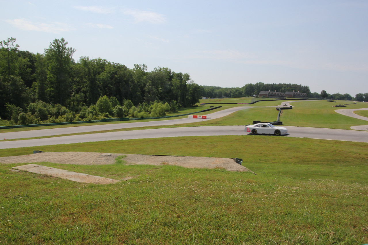 """the """"large track"""" has barriers on it so these drivers have to turn right and cut across on the """"south course"""" circuit."""