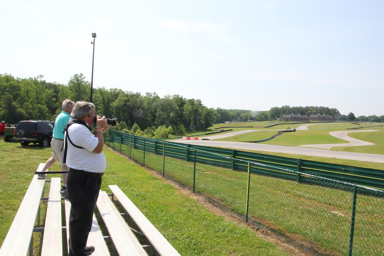 One of the few small stands . Remember this is a roaming spectator track.  Picnic and lay in the shade before the race.