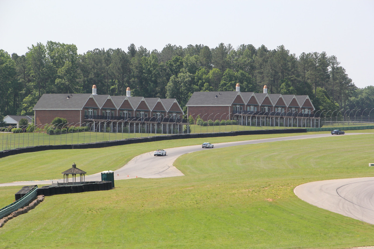 These buildings are private condos for people that live at the track. That's the road course going right by.