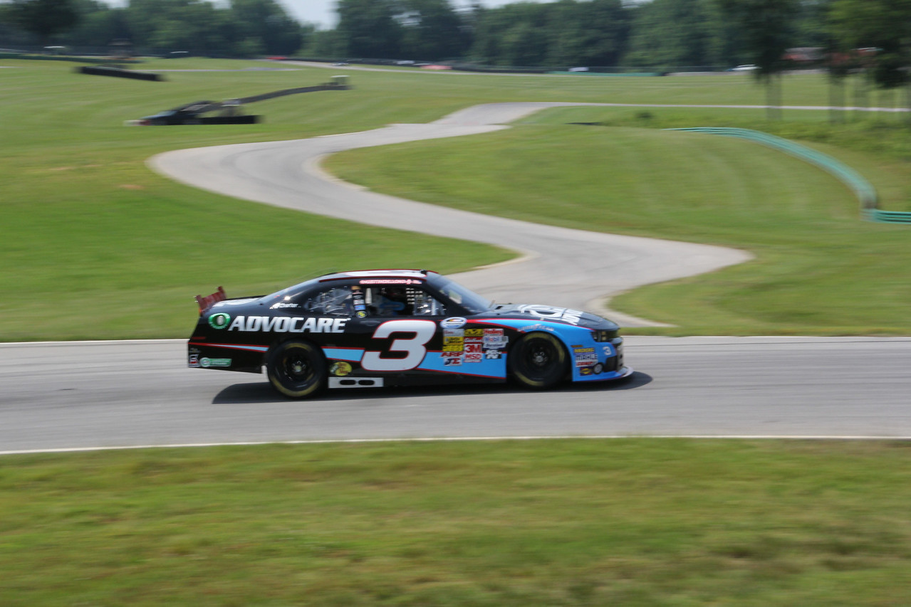 there are several track configurations at VIR. One of them is seen behind Austin Dillon.