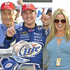 Team Owner Roger Penske, Driver Kurt Busch and his lovely wife Eva Bryan.