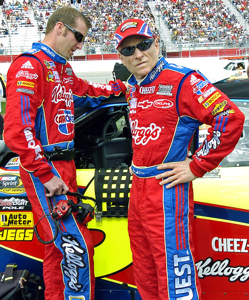 Mark Martin not happy with a comment made by a not so nice fan..