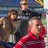 "Hornaday Team, Owner, Sponsors, Family and Fans watch as Ron fights to the front prior to the ""Big One"" at Talladega's 2010 Mountain Dew 250."