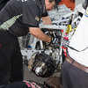 Post crash, the Hornaday Team works on Truck to permit it to roll again.