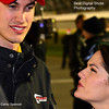 Joey Logano and Wife Brittany Pit Road by Carey Spencer