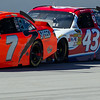 The #43 NASCAR Sprint Cup Car of A.J. Allmendinger was under Robby Gordon's No. 7 Car all day at Talladega.