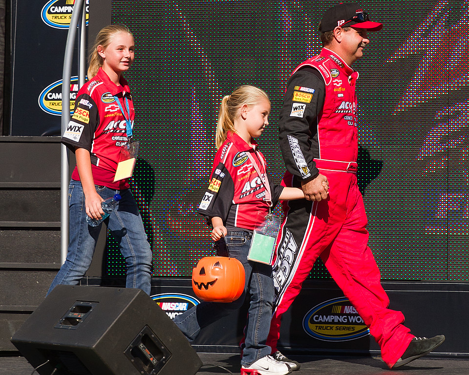 NASCAR Camping World Truck Series Driver Mario Gosselin and Family Celebrate Halloween at Talladega.