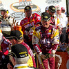 Clint Bowyer Lets the Champagne Fly After Winning the 2010 Amp Energy Juice 500 at Talladega Superspeedway.