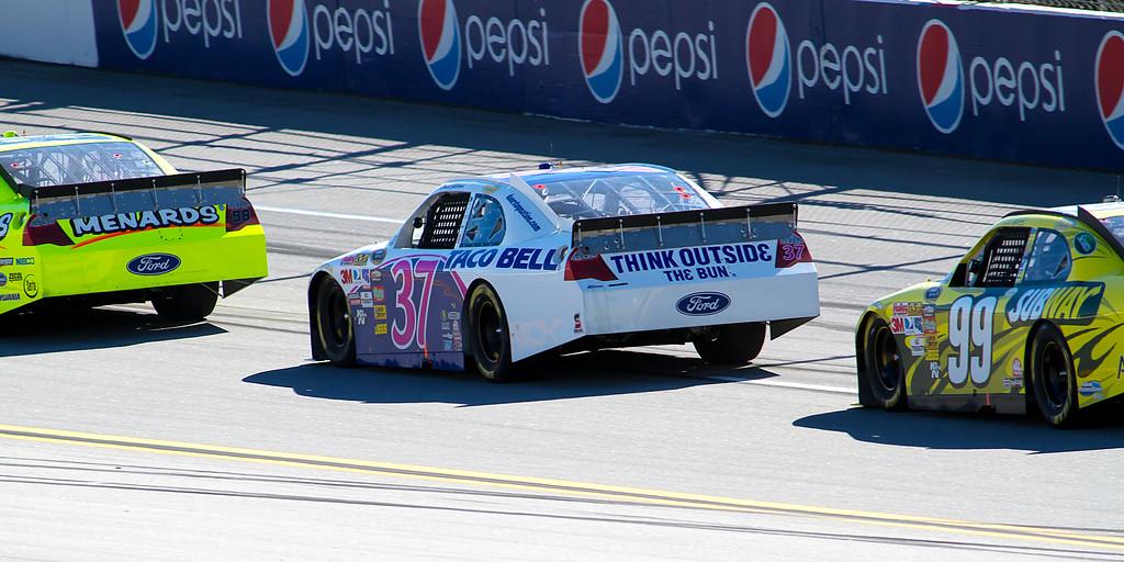 PaulMenard, David Gilliland and Carl Edwards Race Back to Back at Talladega Amp Energy Juice 500.