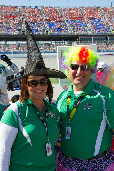 He's No Clown and She Could Never be a Witch.  Hunt Brothers Pizza Racing with Elliott Sadler at Talladega Amp Energy Juice 500.