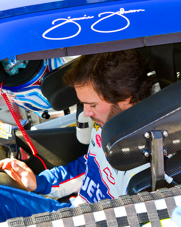 Hendrick Motorsports No. 48 Sprint Cup Driver Jimmie Johnson getting set to race at Talladega in 2010 Amp Energy Juice 500.
