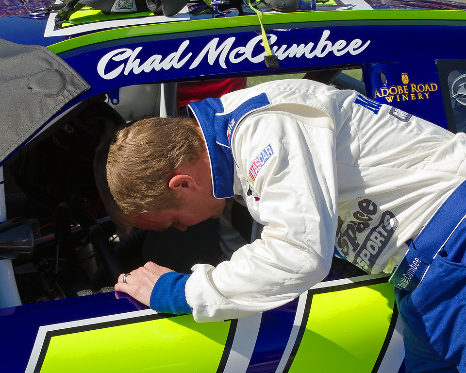 NASCAR Sprint Cup Driver Chad McCumbee from Supply, North Carolina is an up and coming driver with experience in the Camping World Truck Series.