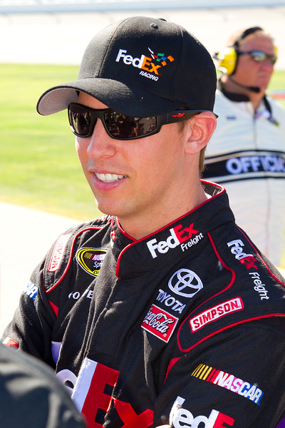 Denny Hamlin on starting grid Amp Energy Juice 500 talladega.