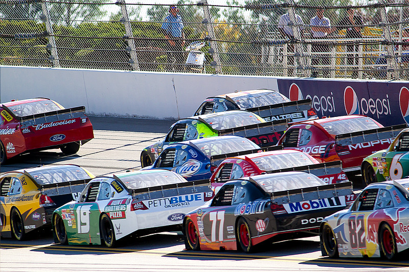 4 Wide at 2010 Talladega Amp Energy Juice 500.