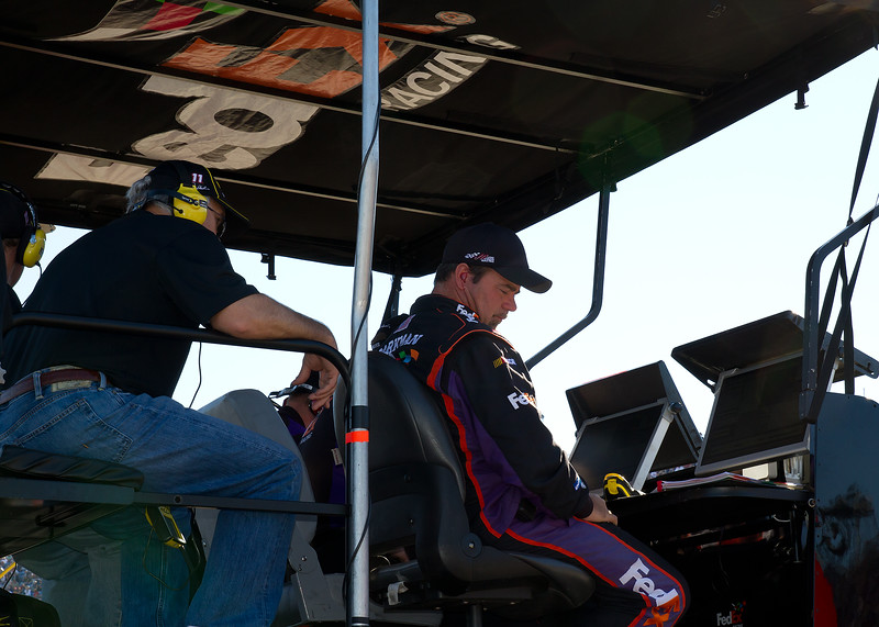 On of the Less Than Busy Moments i The Hamlin Pit During the Amp Energy Juice 500 at Talladega Superspeedway.