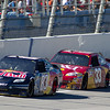 Red Bull No. 83 of Kasey Kane, Bowyer BB&T No. 33 and The Caterpilla No. 31 of Jeff Burton Racing on Halloween at Talladega Amp Energy Juice 500.