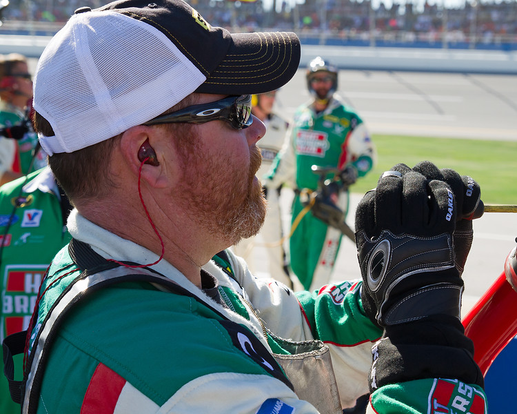 If I am Not Mistaking, I think Sadler's Team Member was Looking at or Cleaning Something, Not Praying.