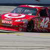 NASCAR Sprint Cup Drivers Logano, Montoya and Sadler Bumper to Bumper at Talladega Am Energy Juice 500.