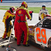 Harvick Team Applies More Bear Bond Tape at Talladega Amp Energy Juice 500 During One of Many Pit Stops.
