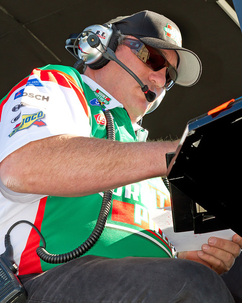 Crew Chief Todd Parrott and all of the Sadler Team had to Fell Good About a Top 15 Finish at Talladega.