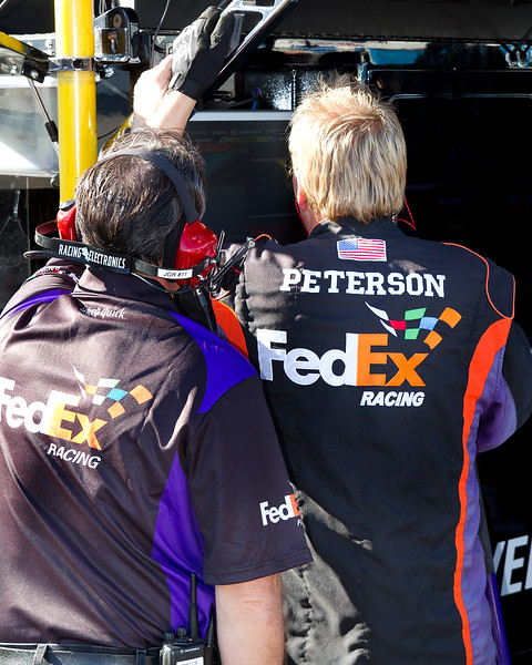 Keeping up with Danny Hamlin and the No. 11 FedEx Car at Talladega Amp Energy Juice 500.
