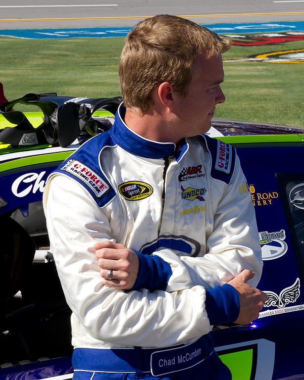 Chad McCumbee up and Coming NASCAR Sprint Cup Driver from Supply, North Carolina Prior to Race.