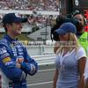 Driver Kurt Busch and his wife, Eva