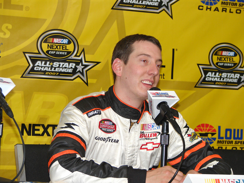 Kyle busch can still laugh after and a bad year...and bad crashes.