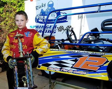 Ten Year old Racer Ricky Springer.