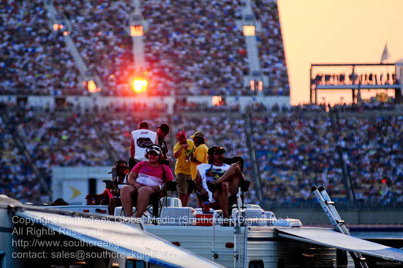 Fans during the NASCAR Inaugural Quaker State 400 at the Kentucky Speedway Sparta,Kentucky.