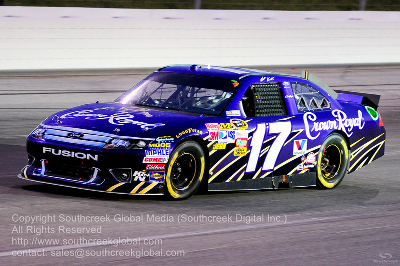 Roush Fenway Racing driver Matt Kenseth (17) in the Crown Royal Ford during the NASCAR Inaugural Quaker State 400 at the Kentucky Speedway Sparta,Kentucky.
