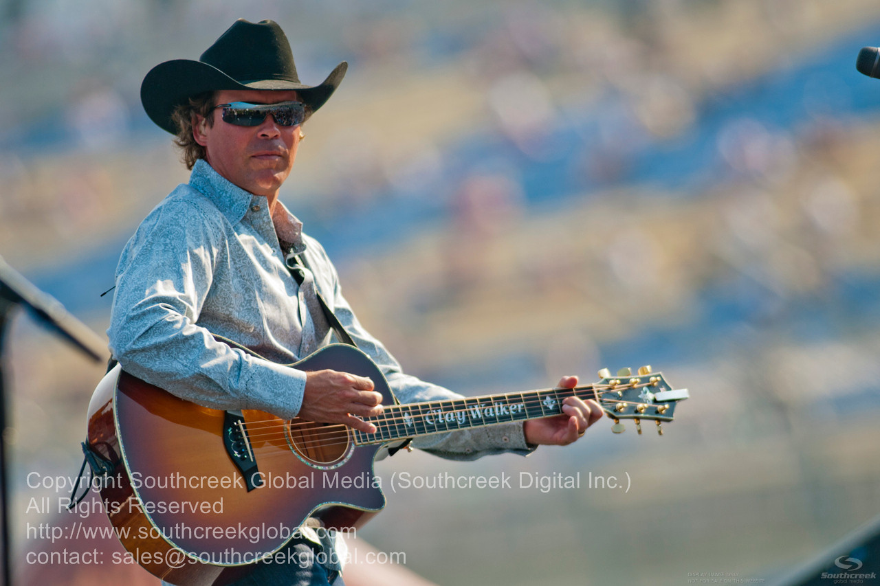 Country artist Clay Walker performed before the NASCAR Inaugural Quaker State 400 at the Kentucky Speedway Sparta,Kentucky.