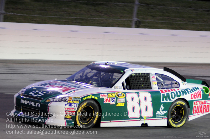 Hendrick Motorsports driver Dale Earnhardt Jr. (88) in the Diet Mountan Dew Chevrolet during the NASCAR Inaugural Quaker State 400 at the Kentucky Speedway Sparta,Kentucky.
