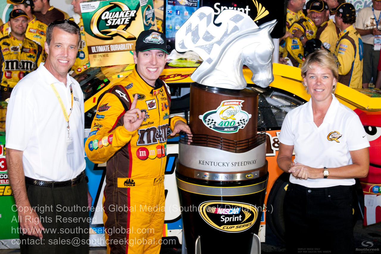 during the NASCAR Inaugural Quaker State 400 at the Kentucky Speedway Sparta,Kentucky.