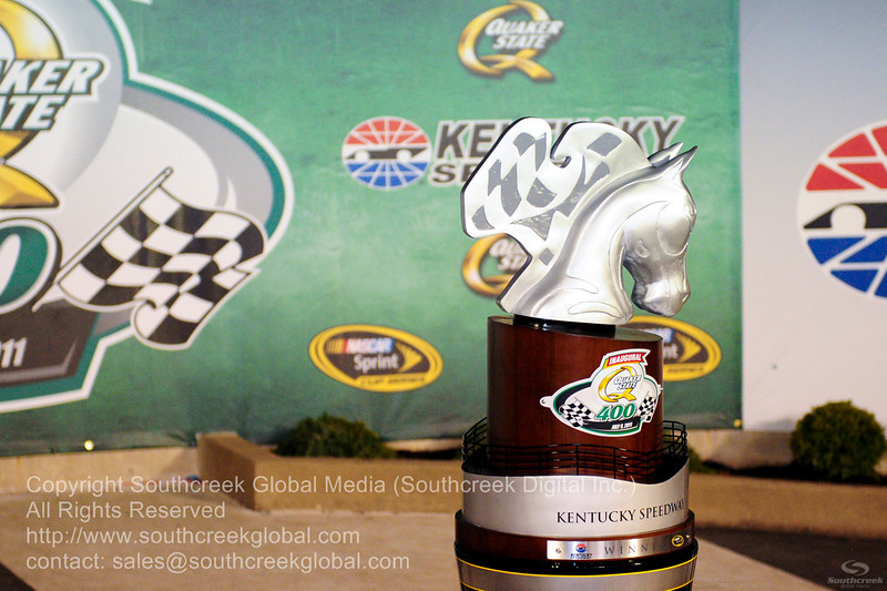Quaker State 400 trophy for the NASCAR Inaugural Quaker State 400 at the Kentucky Speedway Sparta,Kentucky.