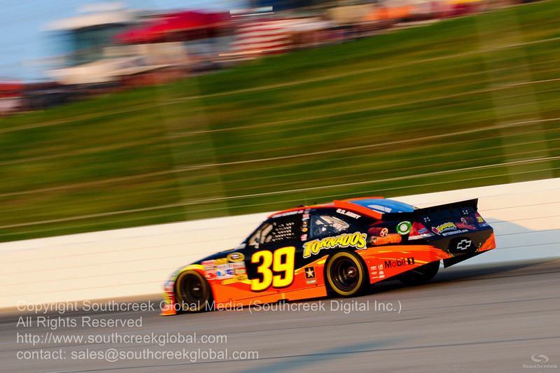 Stewart-Haas Racing driver Ryan Newman (39) in the Tornados Chevrolet during the NASCAR Inaugural Quaker State 400 at the Kentucky Speedway Sparta,Kentucky.