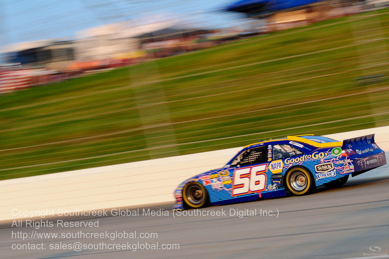 """Michael Waltrip Racing driver Martin Truex Jr. (56) in the NAPA """"Good To Go"""" Toyota during the NASCAR Inaugural Quaker State 400 at the Kentucky Speedway Sparta,Kentucky."""