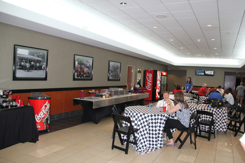 The dinning room in the Media Center