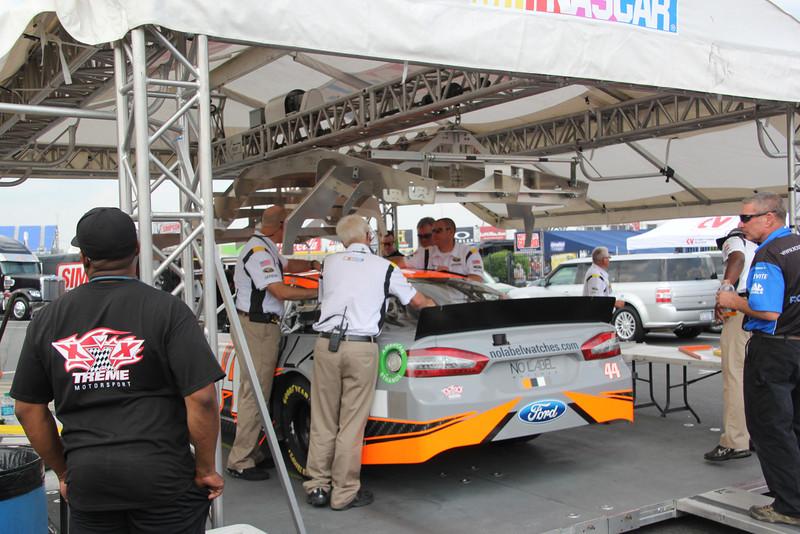 cars enter template area.