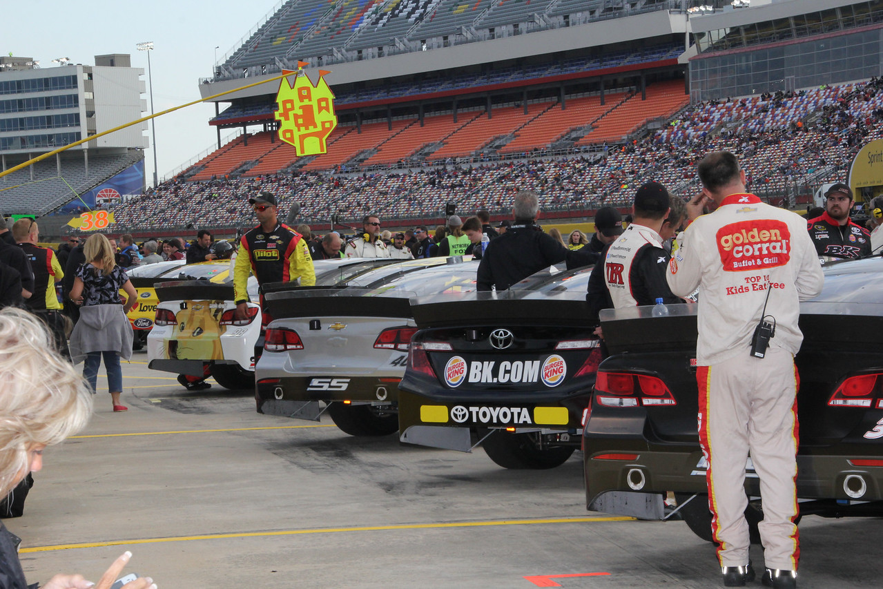 cars ready for the race.