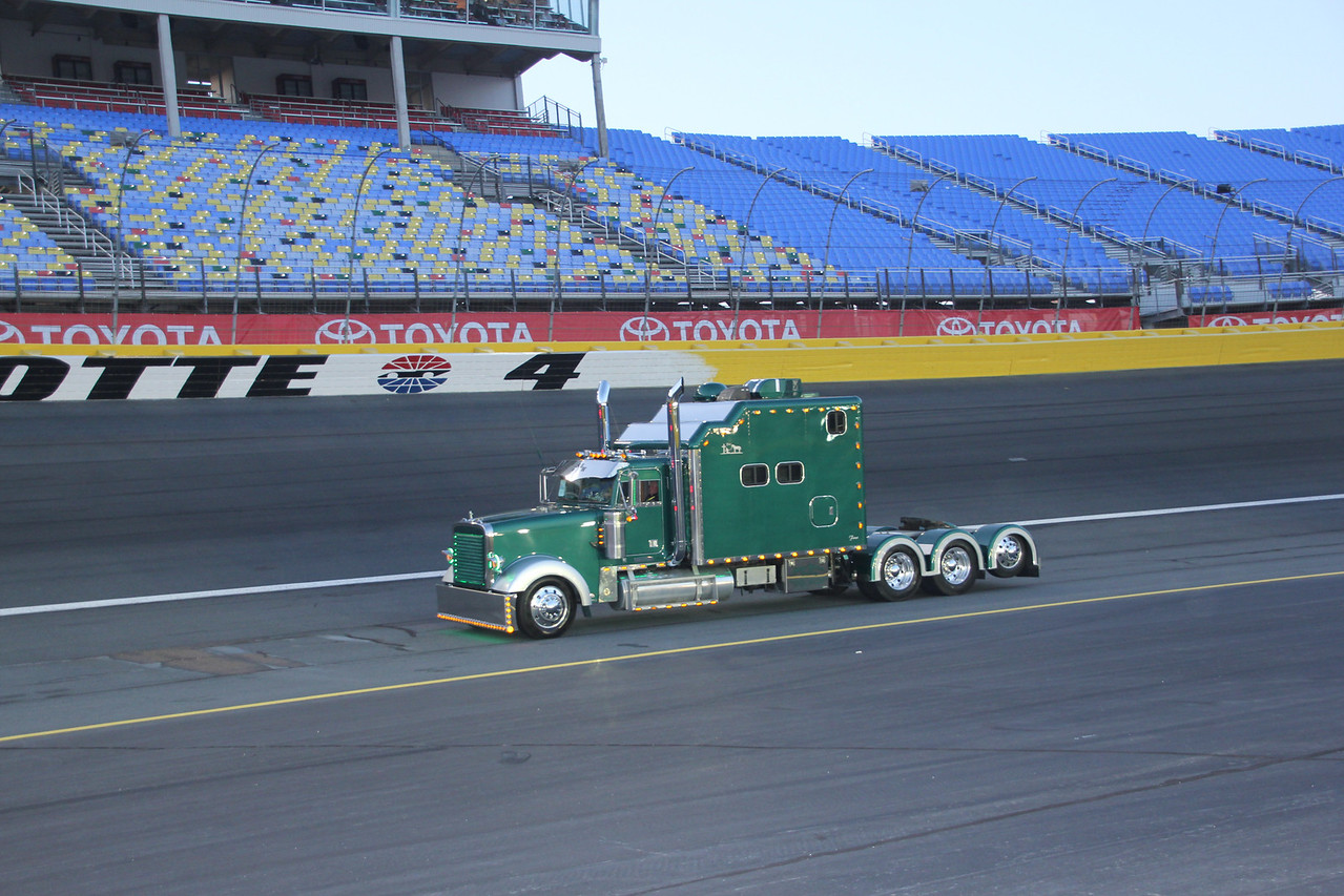 Some beautiful hauler cabs were on display.