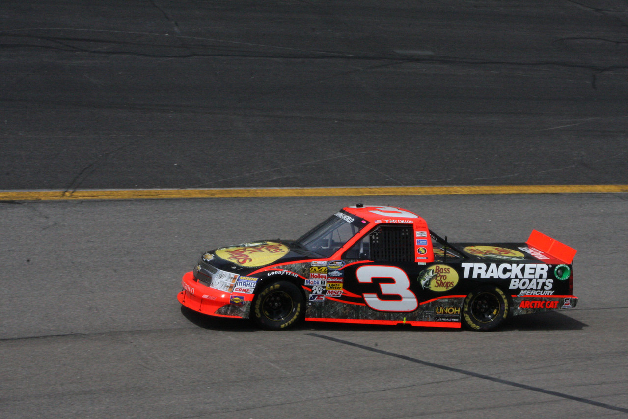 Ty Dillon was 12th in the Bass Pro Shop car