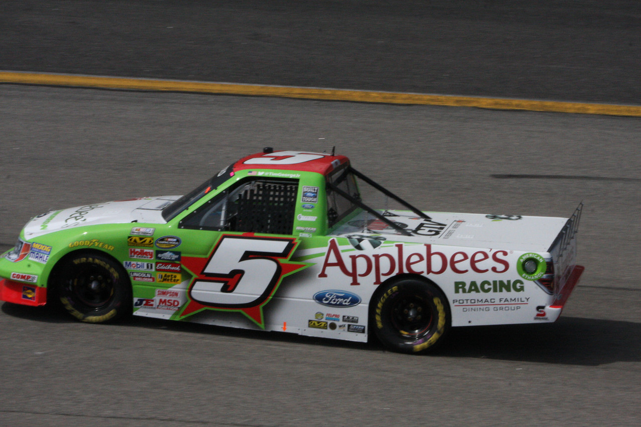 Tim George was 18th in the Applebee's car
