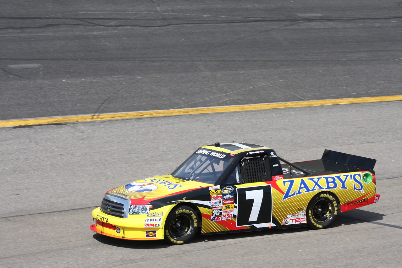 John Wes Townley drove his Zaxby's car to 11th. John's father owns the Zaxby's restaurants.