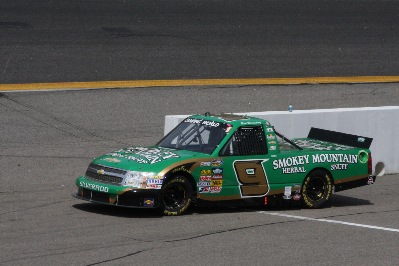 #9 Ron Hornaday was 15th...and quite mad at