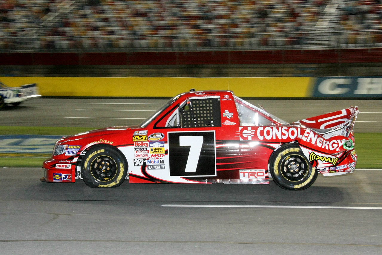 #7 John King messed up the tail of his truck