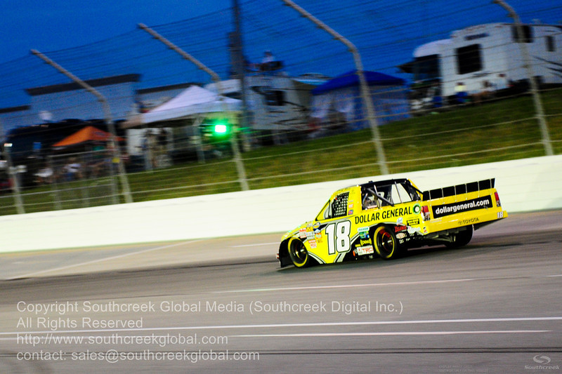 during the NASCAR Camping World Truck Series UNOH Performance 225 at the Kentucky Speedway Sparta,Kentucky.   Kyle Busch won the event for his first win ever at the Kentucky Speedway.